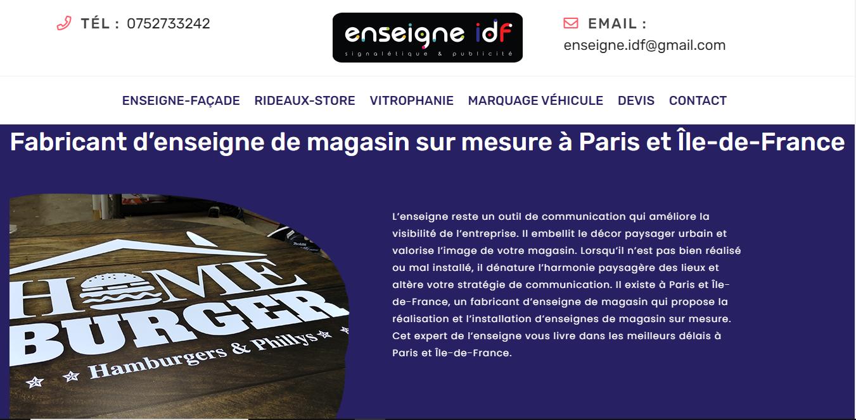 Améliorer votre visibilité avec une enseigne lumineuse en Île-de-France