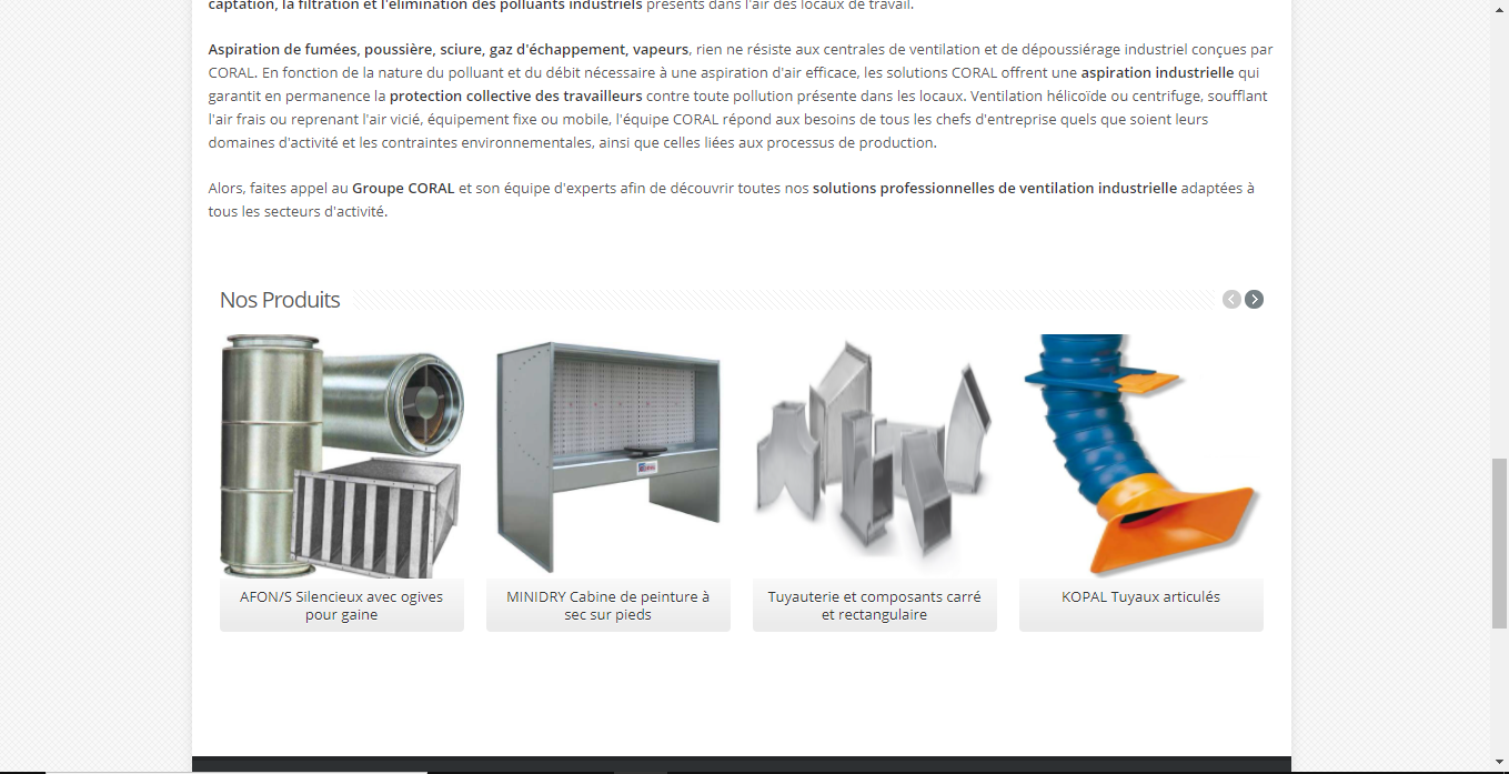 Coral SA: expert en traitement d'air industriel!